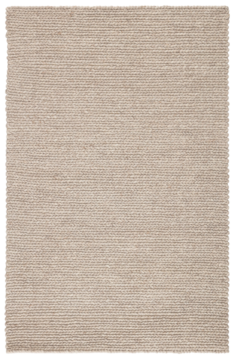 Braiden Handmade Solid Gray Area Rug