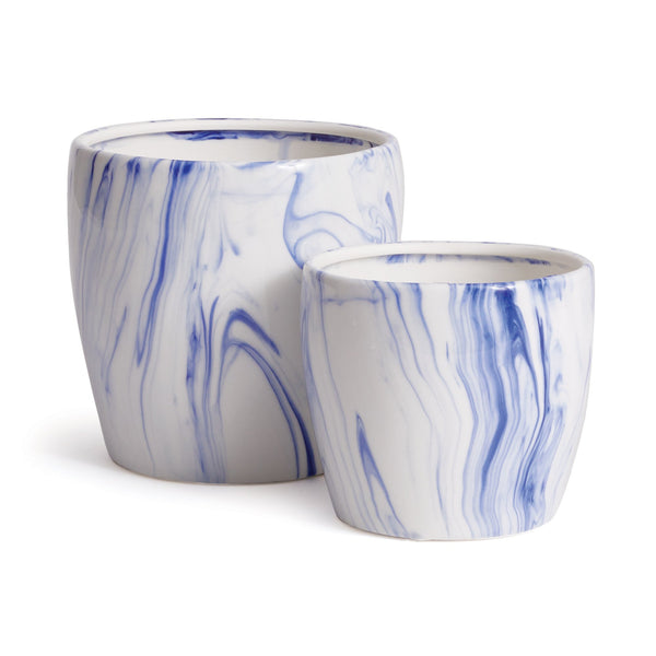Marbleized Pots Set of 2 design by shopbarclaybutera