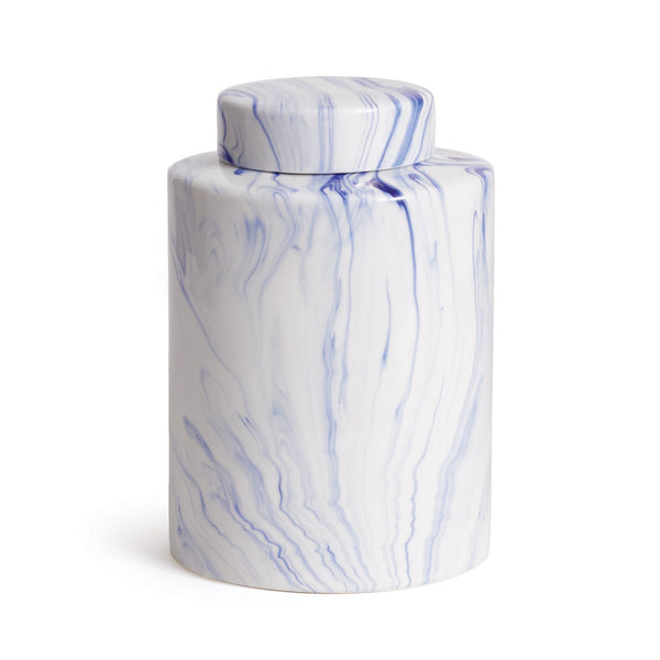 Marbleized Lidded Jar design by shopbarclaybutera