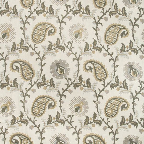 Saudade Paisley Fabric in Quartzite