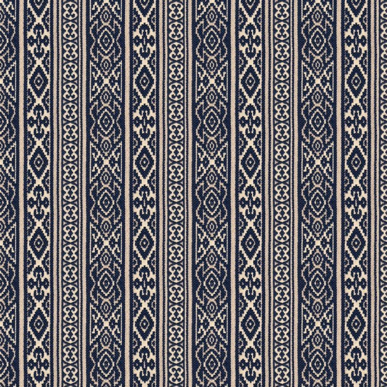 Savunese Fabric in Indigo