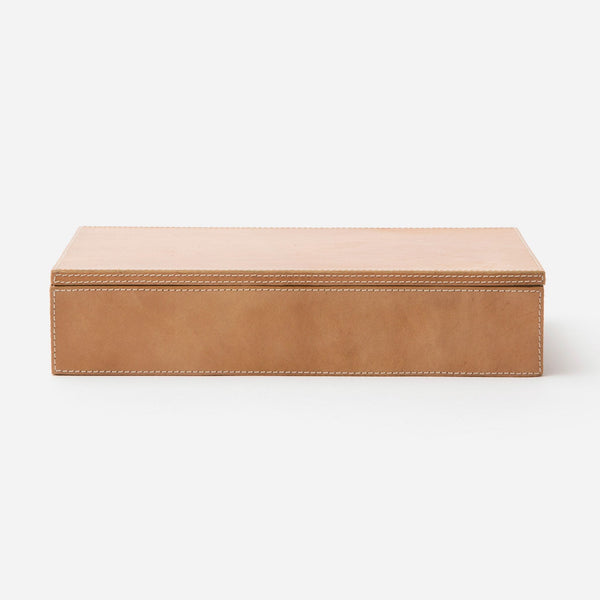 Selby Large Accent Box (Pack of Two), Full-Grain Leather