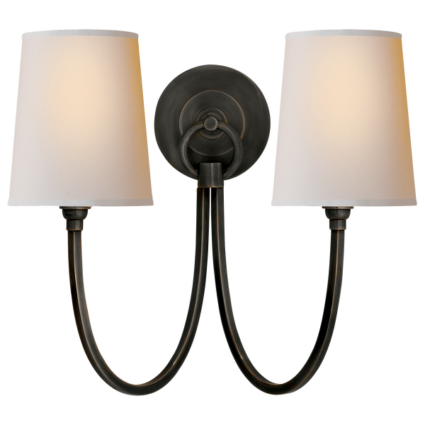 Reed Double Sconce in Various Colors