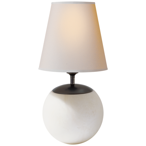 Terri Large Round Table Lamp by Thomas O'Brien
