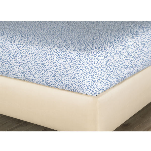 Tanner Indigo Fitted Sheet