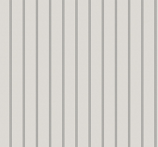 Ticking Stripe Charcoal Wallcovering