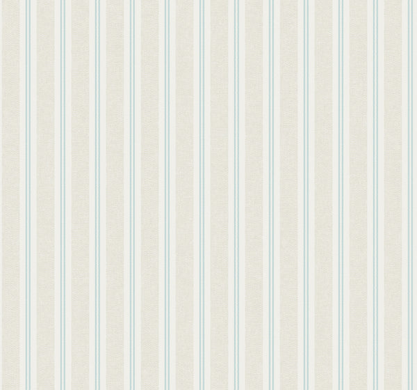 Ticking Stripe Clear Skies Wallcovering