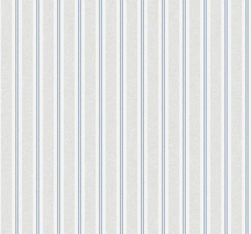 Ticking Stripe Indigo Wallcovering