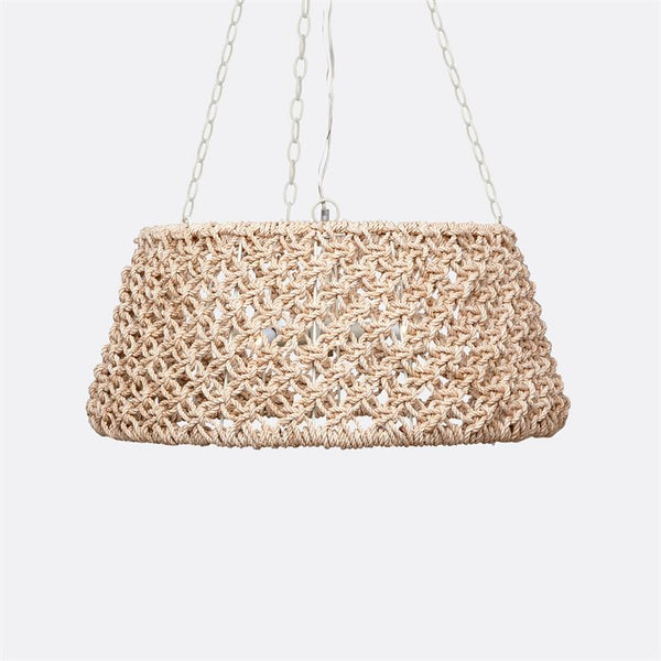 Tully Abaca Drum Chandelier