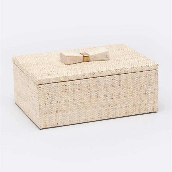 Two Malaret Glitter Raffia Boxes