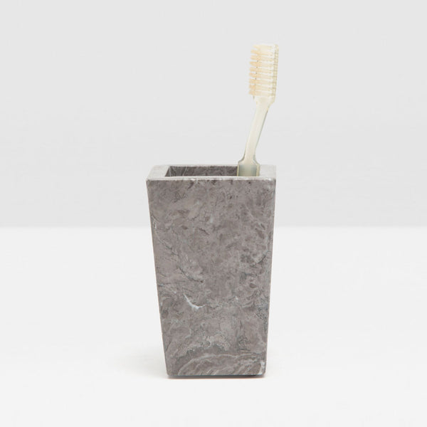 Veneto Collection Bath Accessories, Gray Polished Marble