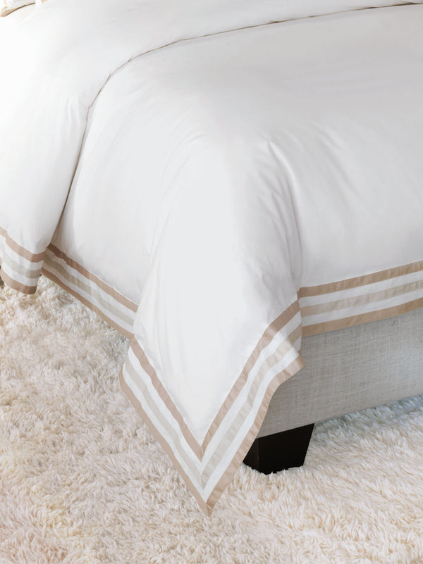 Watermill Taupe Duvet Cover