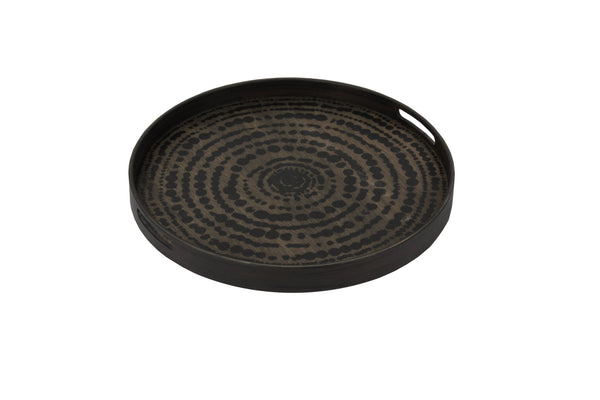 Black Beads Wooden Tray