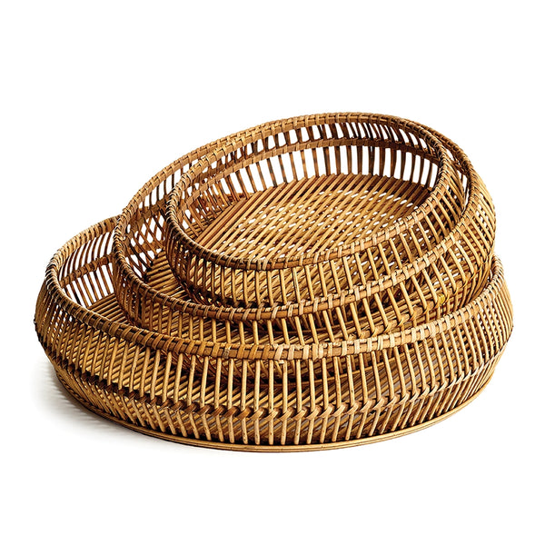 River Bamboo Round Trays, Set of 3