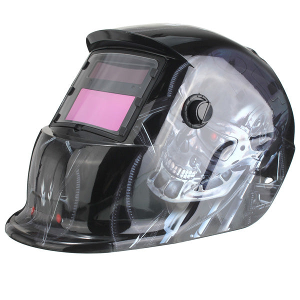 Auto-Dimming Welding Mask | Red Eye Robot Print | DIN 9-13 | Free Shipping