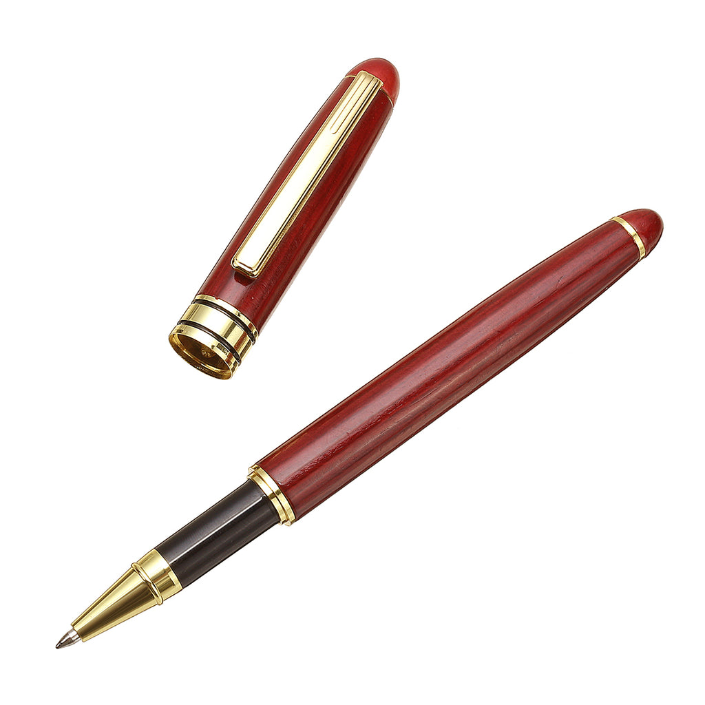 3 Piece Wooden Pen Set with Case | Fountain, Gel, and Ballpoint Pens | Free Shipping