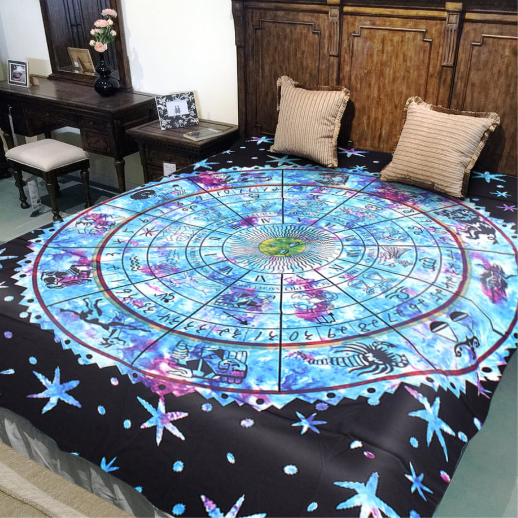 Zodiac Constellations Tapestry Blanket | Free Shipping