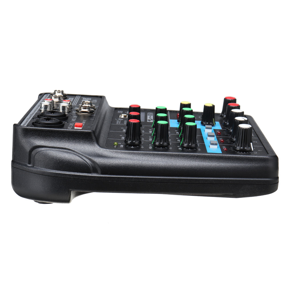 4 Channel Mixer with USB & Bluetooth | Perfect for DJs, podcasters, and public speakers