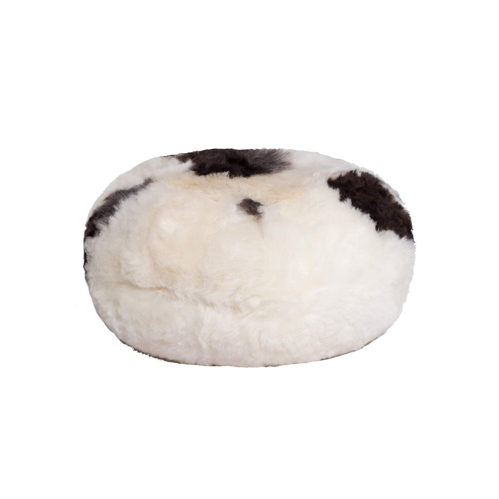"Spotted Short-Hair Sheepskin - Ottoman Pouf | 16.5"" x 16.5"" x 14"""