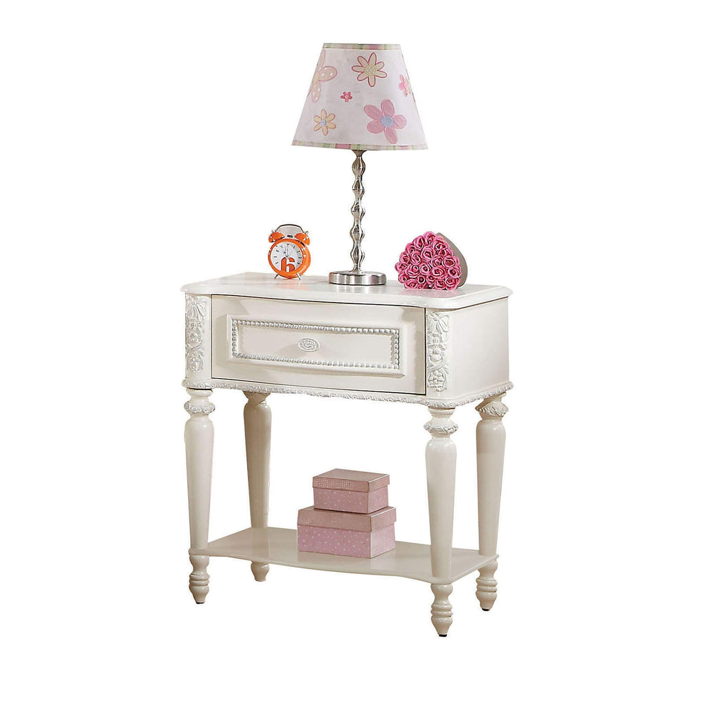 "Ivory Nightstand | 1 Drawer | 23"" X 16"" X 26"""