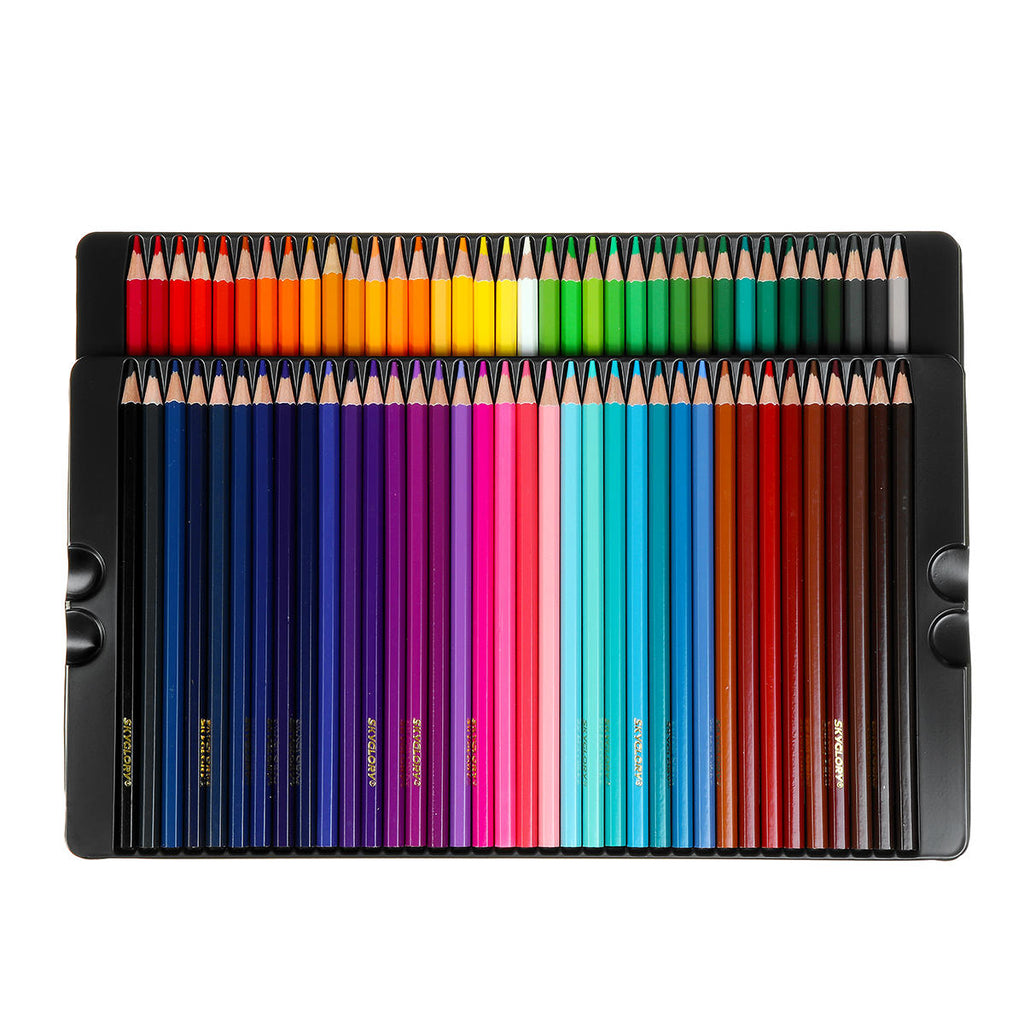 72 Colored Pencils in Tin Case | Great for art pros, hobbyists, homeschoolers | Free Shipping
