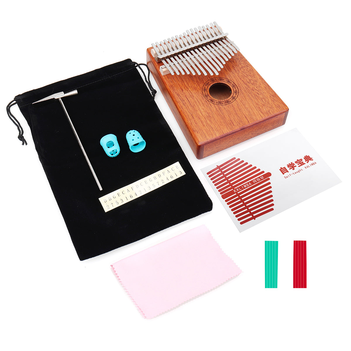 17-Key Kalimba Thumb Piano With Training Stickers | Free Shipping