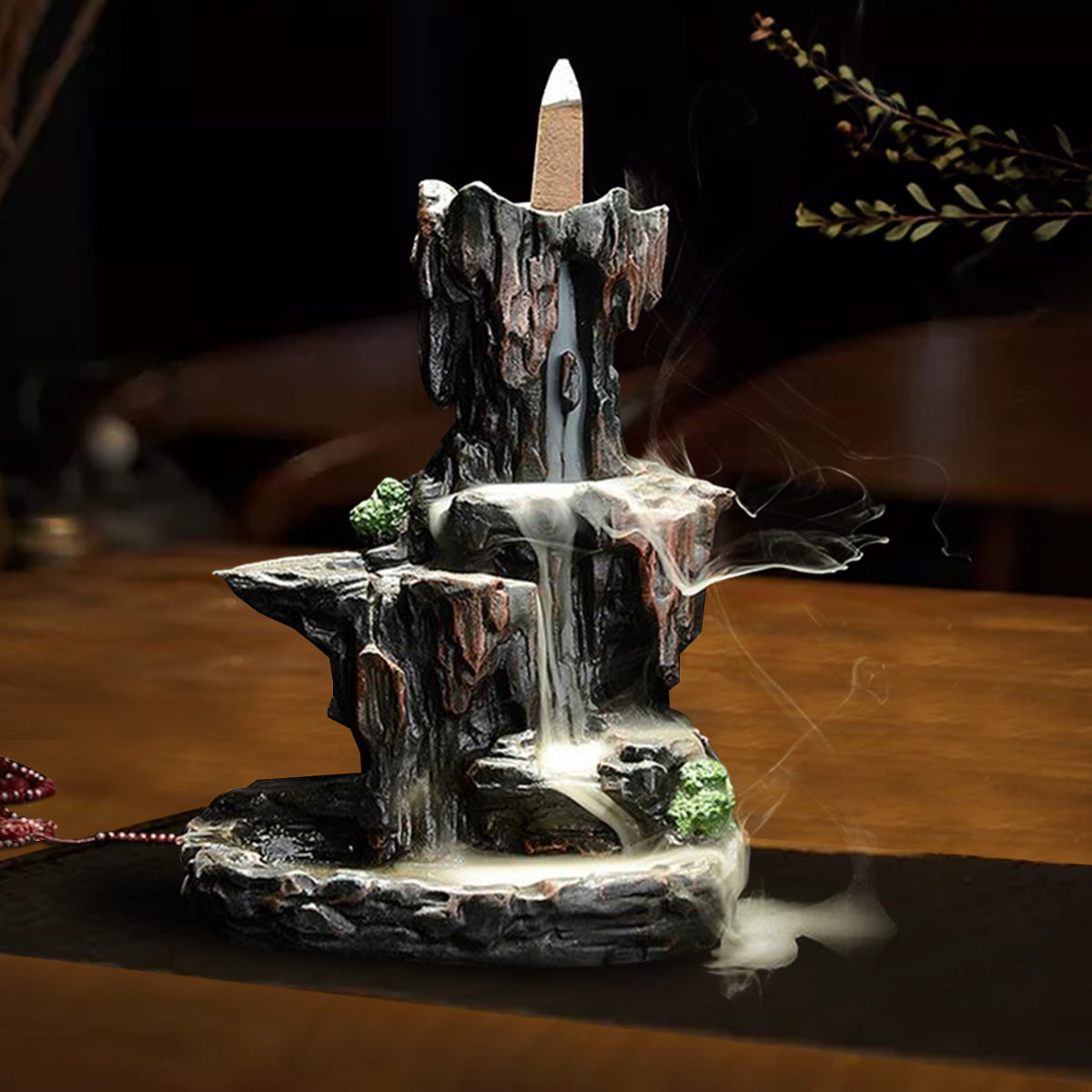 Backflow Incense Burner | Mossy Cliffs Waterfall | Free incense and gift box