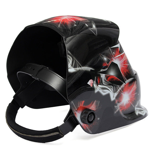 Auto-Dimming Welding Mask | Fire & Smoke Design | DIN 9-13 | Free Shipping