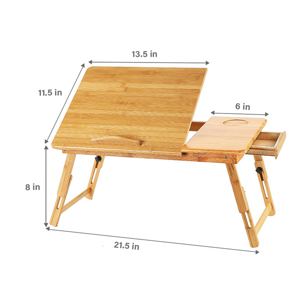 Sustainable Bamboo Folding Laptop Desk: Work From Home in Comfort