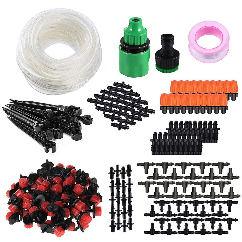 164 Piece 50-Foot Soft Tube Irrigation System | Water the smart way!