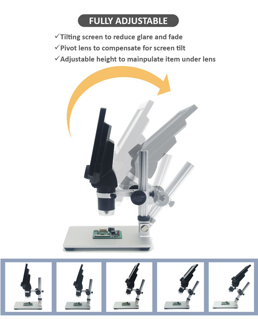 "1200X Digital Microscope With 7"" Screen 