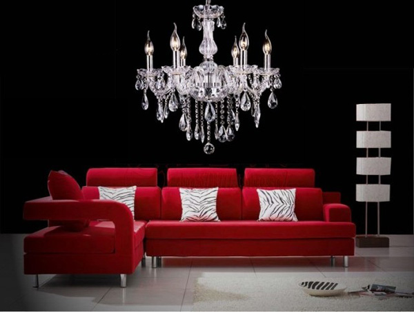 Crystal Chandelier | Classic Elegant Light Fixture With 6 E12 Heads