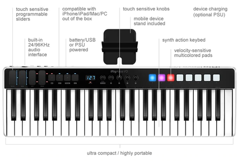 IK Multimedia iRig Keys I/O 49 Key MIDI Controller with Audio Interface