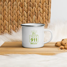 "Load image into Gallery viewer, ""Tech 911"" Enamel Mug"