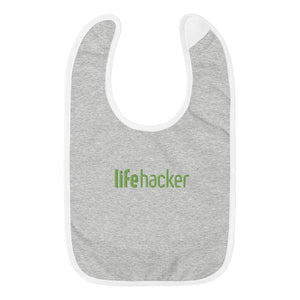 Lifehacker Embroidered Baby Bib
