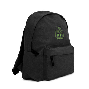 """Tech 911"" Embroidered Backpack"