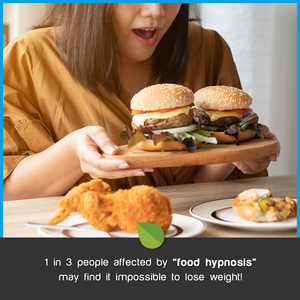 "1 in 3 people affected by ""food hypnosis"" may find it impossible to lose weight!... (thankfully it can be reversed)"
