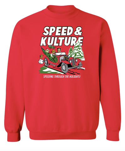 Speeding Through the Holidays - Crew Neck Sweatshirt
