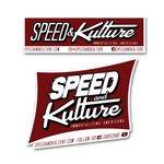 Speed and Kulture Sticker Combo