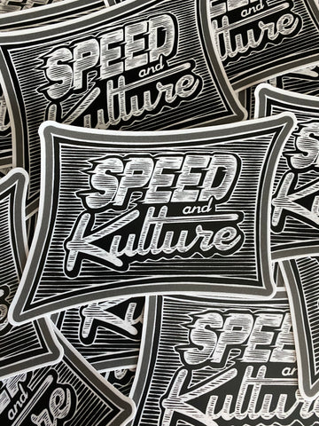 Speed and Kulture Logo Sticker by BOMONSTER