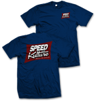 Speed and Kulture Magazine T-shirt Blue