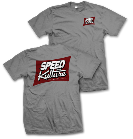 Speed and Kulture Magazine T-shirt Grey