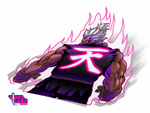 Shin Akuma Purple Aura Back ~ Spot Reflective