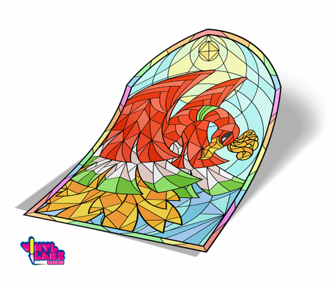 Stained Glass ~ Ho-Oh ~ Spot Reflective