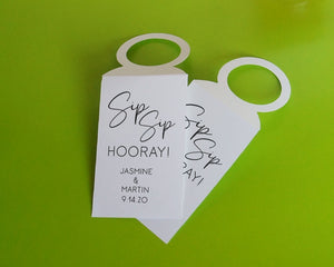 Sip Sip Hooray! - Bottle Tags