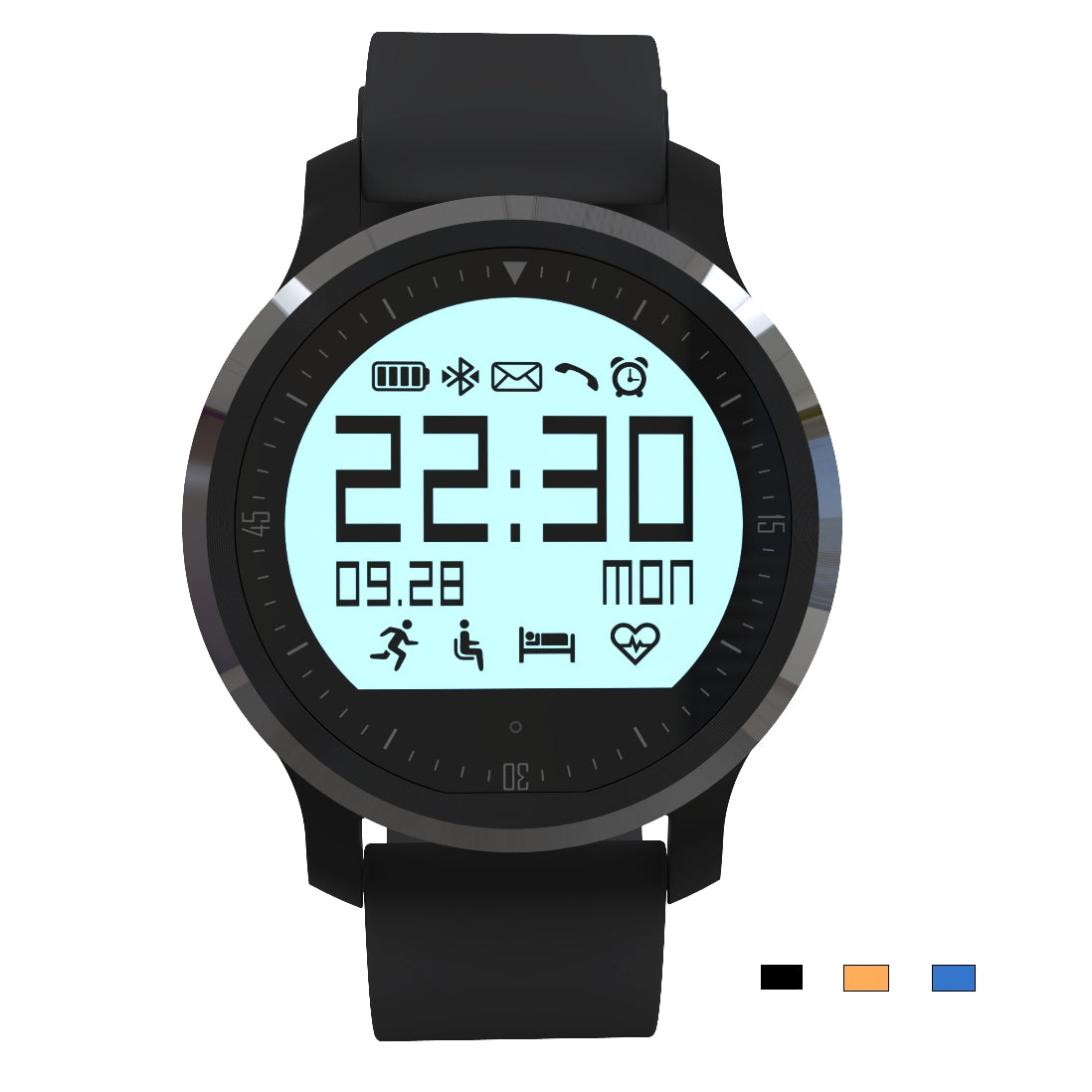 Waterproof Bluetooth Heart Rate Smart Watch For Android And IOS
