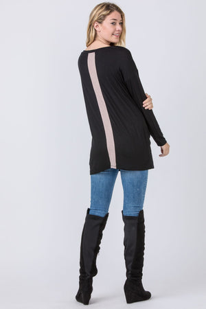 Black & Mocha Slouch Pocket Tunic