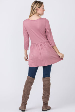 Dusty Pink Baby Doll Tunic