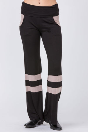 Wide Leg Stripe Accent Pants