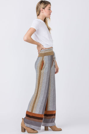 Stripe Retro Drawstring Pants